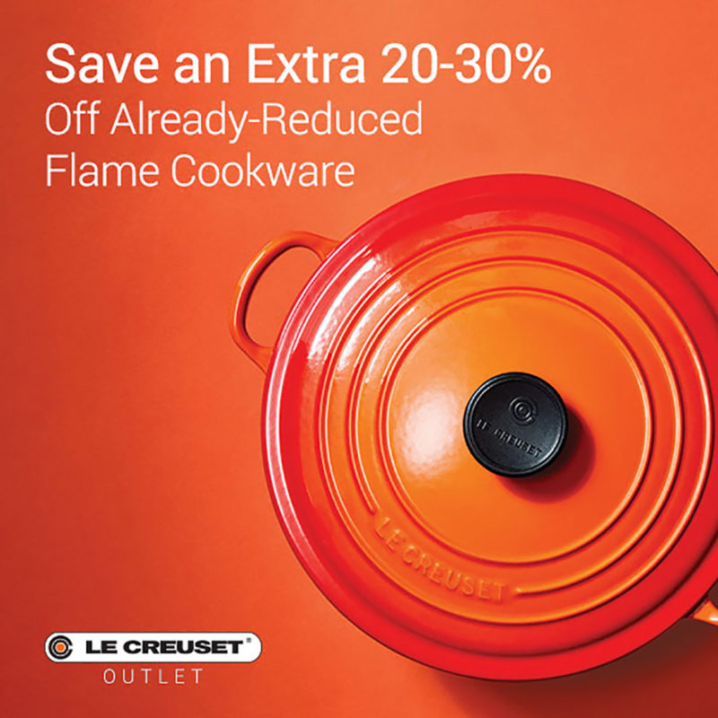 Save an Extra 20-30% Off Already-Reduced Flame Cookware